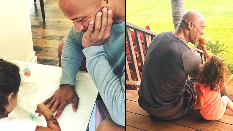 Dwayne Johnson Proves He's The Best Dad Again, After Sharing Adorable Instagram Photo