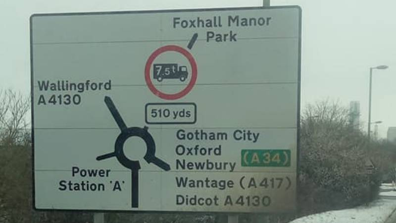 Gotham, Narnia And Middle Earth Appear On Legitimate UK Road Signs