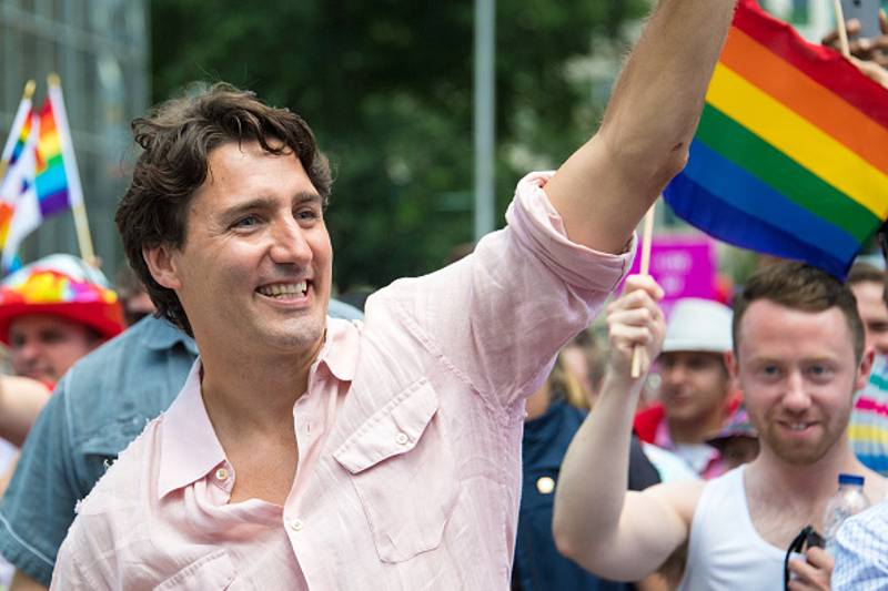 Justin Trudeau Becomes The First Ever Canadian Prime Minister To March In Gay Pride