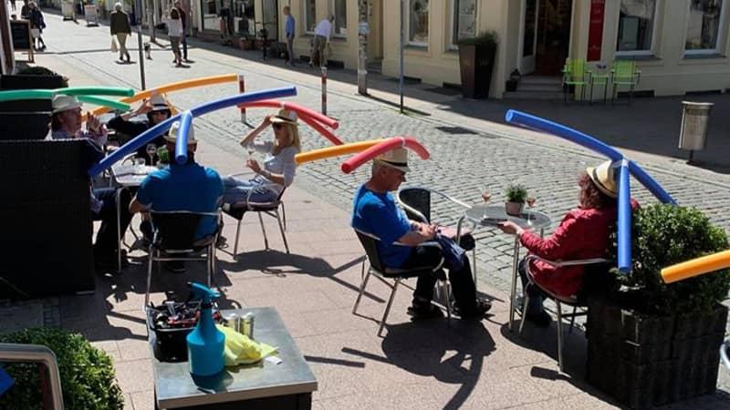 German Cafe Gave Customers Pool Noodles To Ensure Social Distancing