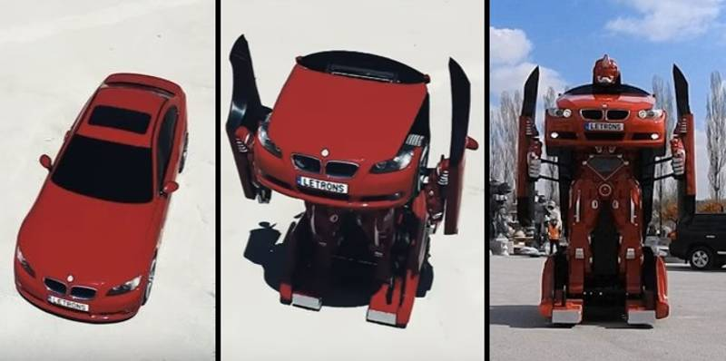 Engineers Create Real Life Transformer Out Of An Ordinary BMW