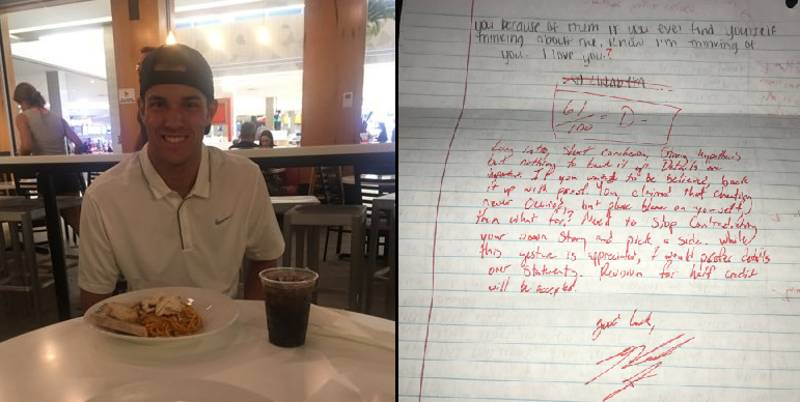 Guy Critiques And Grades Apology Letter His Ex Sent Him