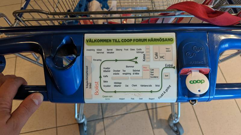 Supermarkets In Sweden Have Maps On Their Trolleys