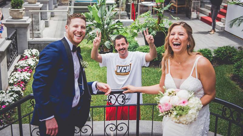 'The Wedding Singer' Actor Adam Sandler Turns Into Wedding Crasher