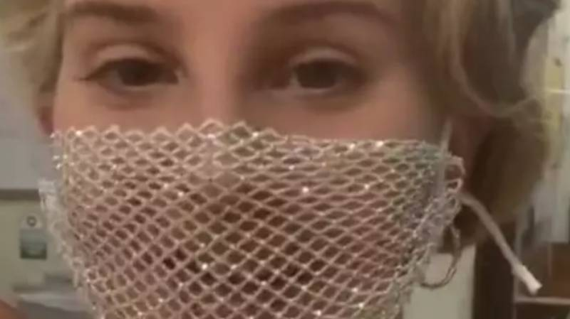 Lana Del Rey Says Her Mesh Face Mask Had 'Plastic On The Inside'