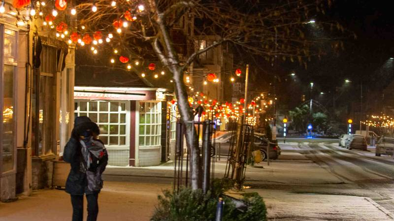 Town Turns Christmas Lights On In February To Lift Lockdown Mood