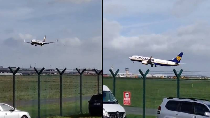 Plane Fails To Land In Terrifying Winds During Storm Ali