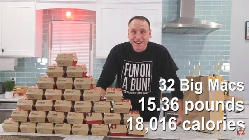 American Competitive Eater Scoffs 32 McDonald's Big Macs In 38 Minutes