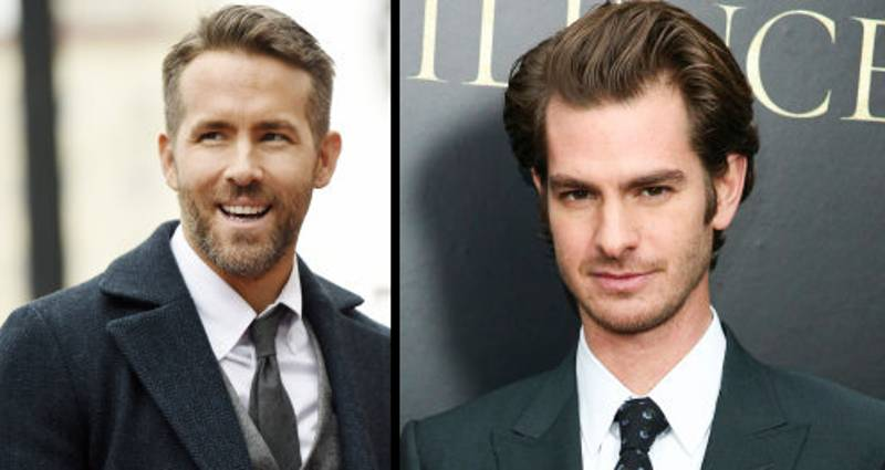 Ryan Reynolds And Andrew Garfield Shared A Kiss At The Golden Globes