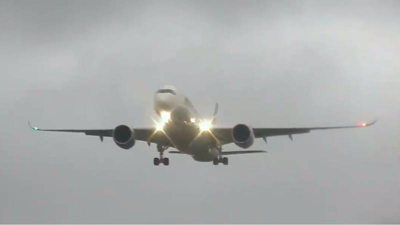 Footage Shows Plane Struggling To Land As It's Rocked By Storm Ciara Winds In Manchester