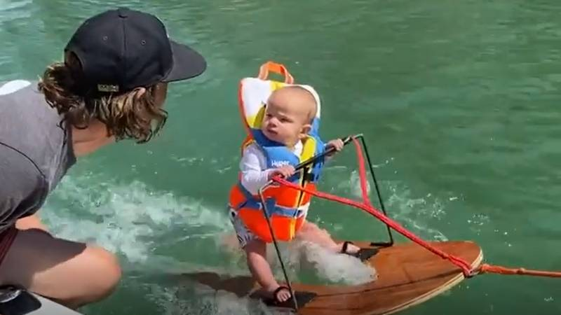 Viral Video Of Water Skiing Baby Sparks Mixed Response On Social Media