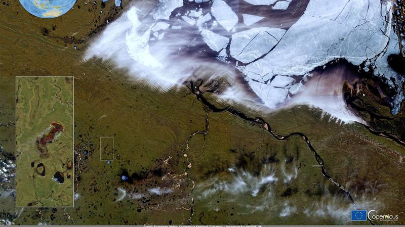 Satellite Images Show Raging Wildfires Around 30 Miles From The Arctic Ocean