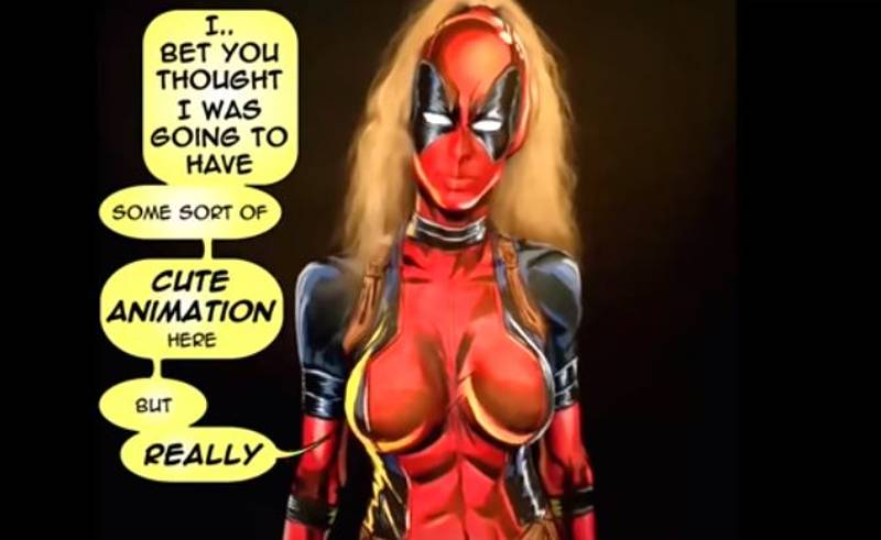 Woman Body Paints Herself Into Lady Deadpool And It's Amazing