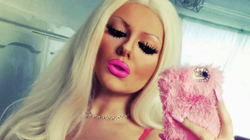 ​Self-Styled Barbie Doll Who Spent £7,000 On G-Cup Breasts Says She'll Be 'Fake Until l Die'