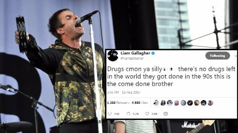 Liam Gallagher Explains 'Drug Fueled' Rant On Twitter