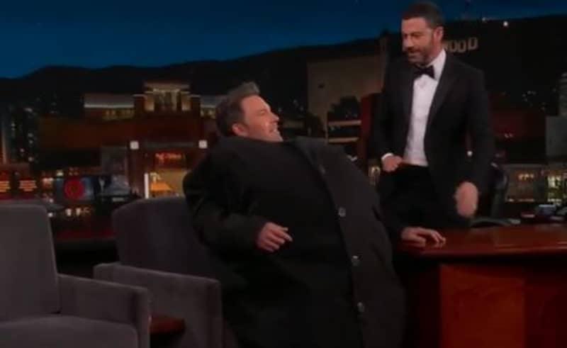 Ben Affleck Tried To Smuggle Matt Damon Onto 'Jimmy Kimmel Live' Inside His Coat