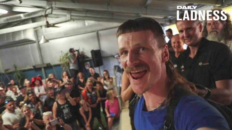 British Man Is Crowned As Having The World's Best Mullet