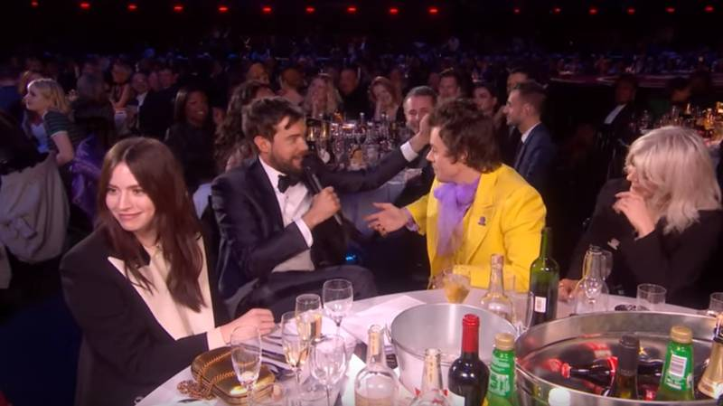​Jack Whitehall Makes Awkward Sister Joke To Harry Styles At BRITs