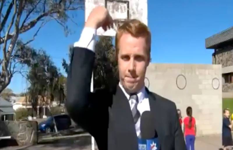 This News Reporting Lad Nailed A Basketball Shot You'd Never Think Was Possible
