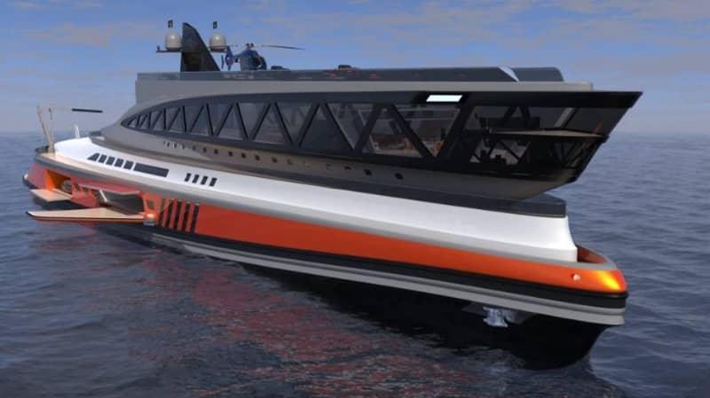 New £450 Million Mega Yacht Resembles A Shark Gliding Through The Sea