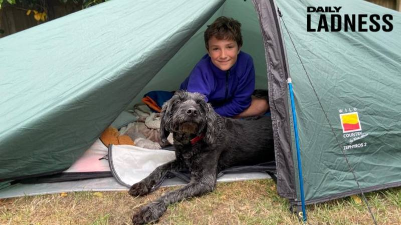 Boy Raises More Than £75,000 For Charity After Spending More Than 200 Days In Tent