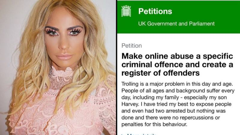 Katie Price Launches Petition Against Abuse From Vile Online Trolls
