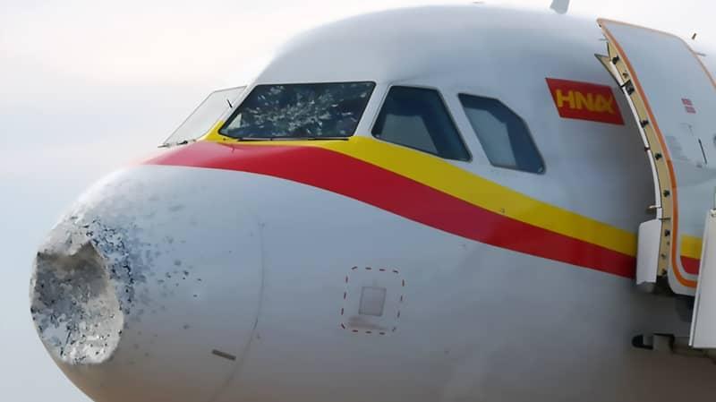 Plane Forced Into Emergency Landing After Battling Hailstorm At 32,000 Feet