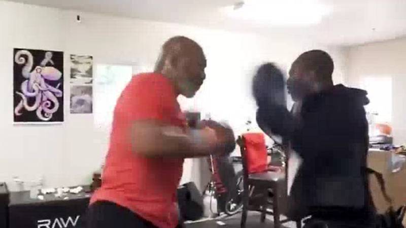 Mike Tyson Shows Off Impressive Speed At 53