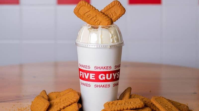 Five Guys Has Launched A Lotus Biscoff Milkshake