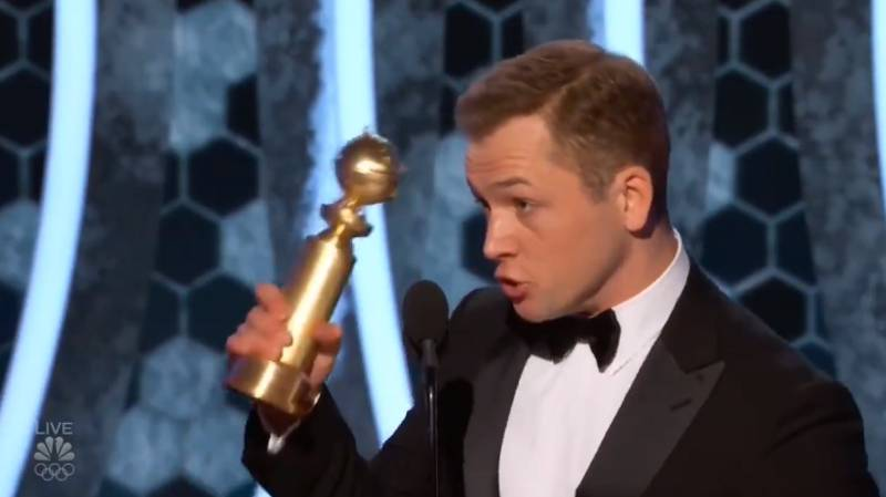 Taron Egerton Wins First Ever Golden Globe