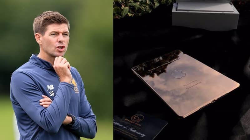 People Slam Steven Gerrard For Getting 6 Year Old Daughter 18 Karat Plated iPad