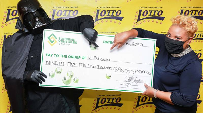 Lottery Winner Dons Darth Vader Outfit To Collect Winnings