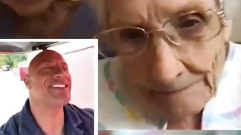 Dwayne Johnson Sends Tequila To 101-Year-Old But Advises Her To Sip It