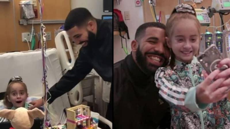 Drake Pays Surprise Birthday Visit To Heart Transplant Patient Who Did Kiki Challenge