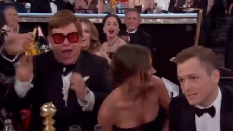 Elton John's Reaction To Taron Egerton Winning Golden Globe Shows No One Is Happier For Him