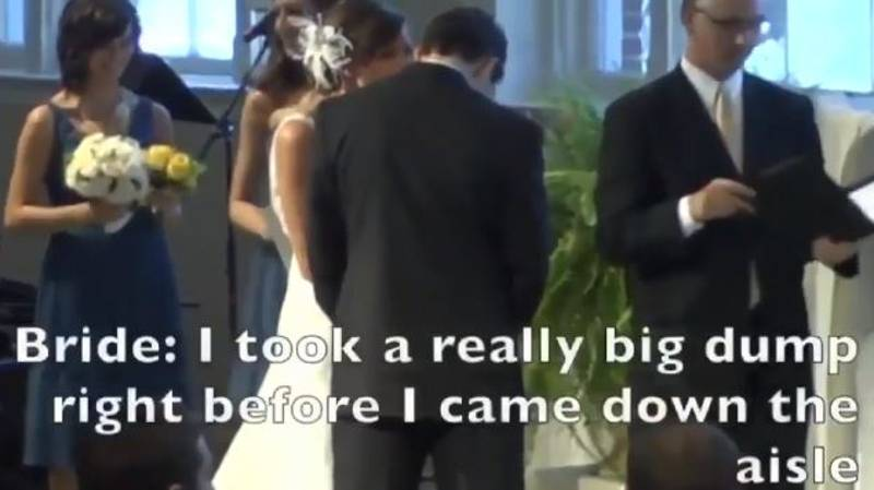 Bride Is Heard Telling Groom She Took A 'Really Big Dump' Right Before Wedding
