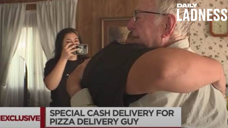 TikTok Star Raises £9,000 To Help Out 89-Year-Old Pizza Delivery Driver