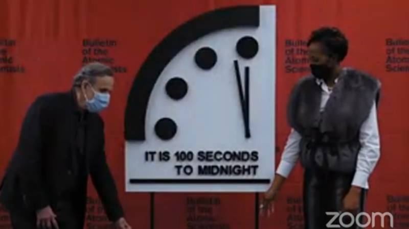 Doomsday Clock Remains Unchanged At 100 Seconds To Midnight