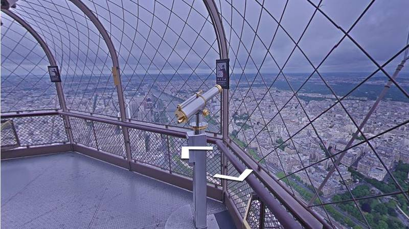 Google Maps Now Has Street View At The Top Of The Eiffel Tower In Paris