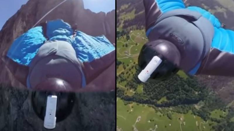 Fearless Daredevil Completes Jump Off Notoriously Deadly Mount Eiger Peak In Wingsuit