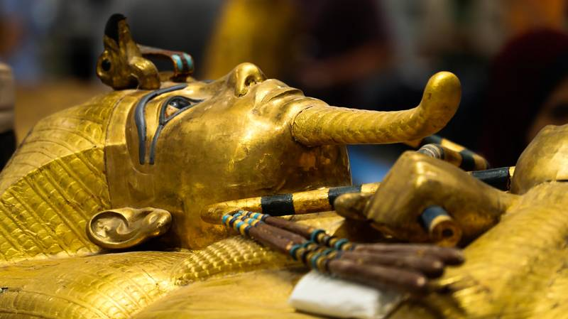 Images Show Tutankhamun's Coffin Outside His Tomb For First Time Ever
