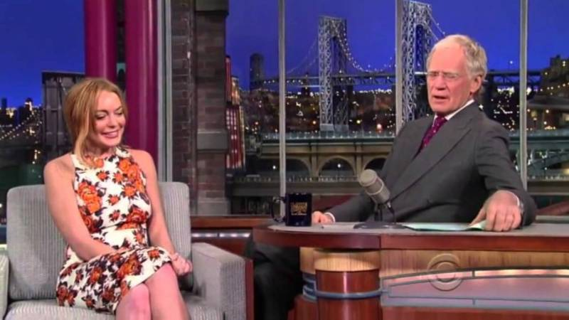 TV Host David Letterman Criticised For 'Horrifying' Resurfaced Interview With Lindsay Lohan