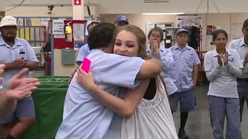 16-Year-Old Reunited With The Mailman Who Saved Her From Sex Traffickers