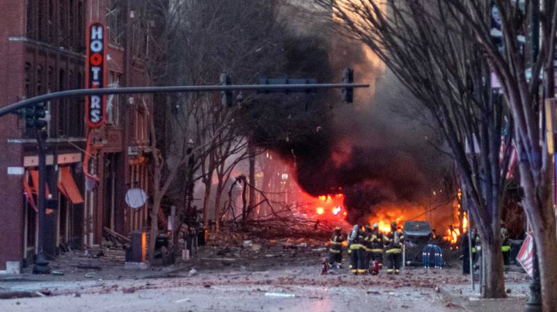 RV Explodes In Deserted Street In Downtown Nashville After Issuing Eerie Warning