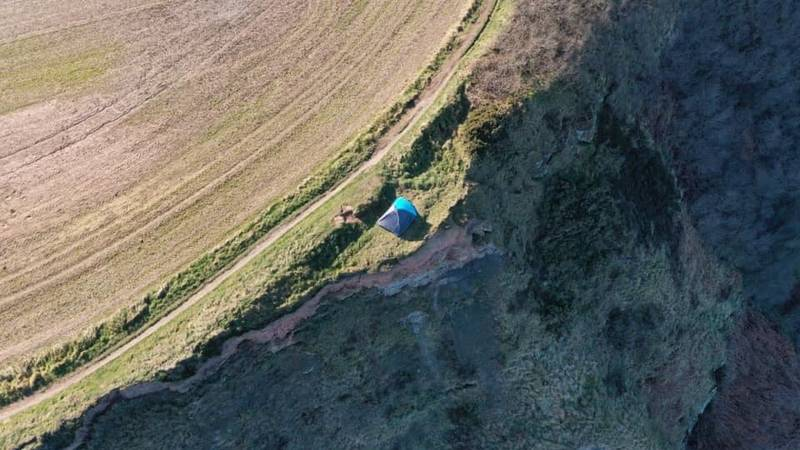 Police And Coastguard Respond After Couple And Child Camp On Cliff Edge
