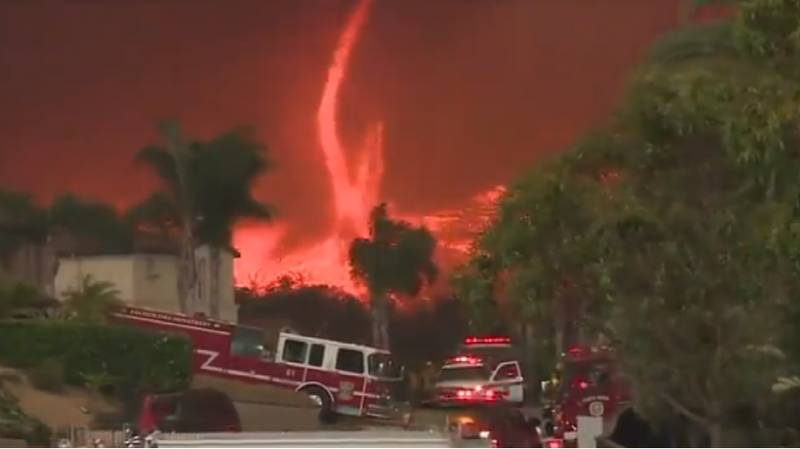 Terrifying Footage Captures 'Devil' Fire Tornado Raging Through California
