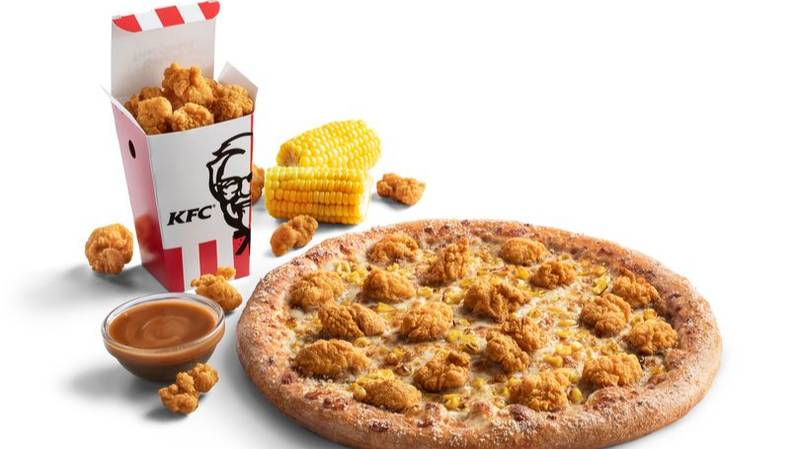 Pizza Hut And KFC Are Bringing Back The Popcorn Chicken Pizza