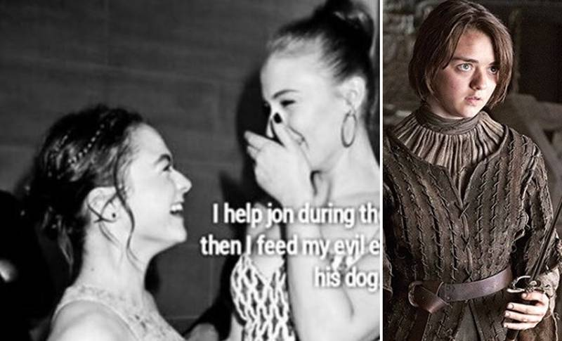 Maisie Williams Shows How Fucking Awesome The Stark Family Actually Are