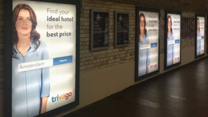 The Trivago Woman Is Everywhere In London And It's Freaking People Out