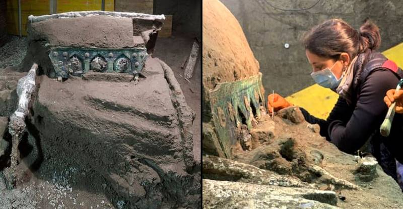 Roman Chariot Unearthed In Pompeii Nearly 2,000 Years After City Was Buried